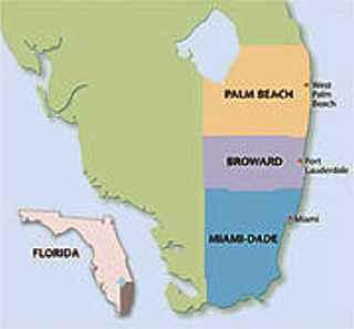 map south florida palm beach broward miami dade county