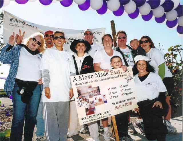 move manager team support Alzheimer fund raiser community event