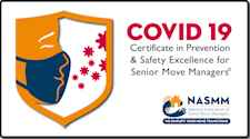 covid-19 safety certificate member national association of senior move managers NASMM