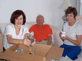 sharon senior couple valuables being packed for safe moving